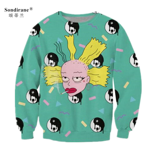 Sondirane Newest Men Womens 3D Print Creative Cartoon Personalized Casual Sweatshirt  Hoodies Long Sleeve Crewneck Tops Tracksuit dafd8c0c5e