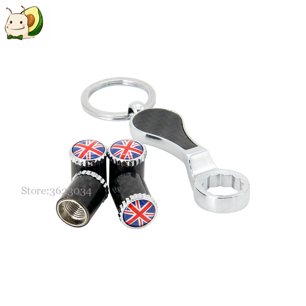 Tire Valves Caps Air Stem Cover UK Flag Logo for Ford Fiesta Vauxhall Corsa VW Golf Nissan Juke Car Accessories