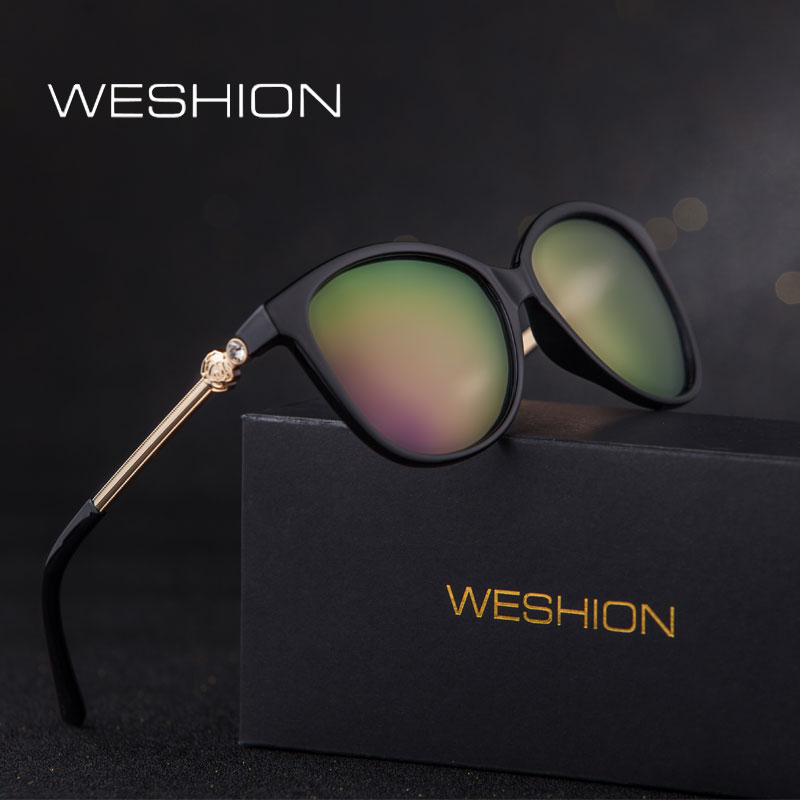 d956ce435eb Cat Eye Sunglasses Women Polarized Ladies Sun Glasses 2018 Oval Coating  Mirror Lenses Gold Frame UV400 Oculos De Sol Feminino
