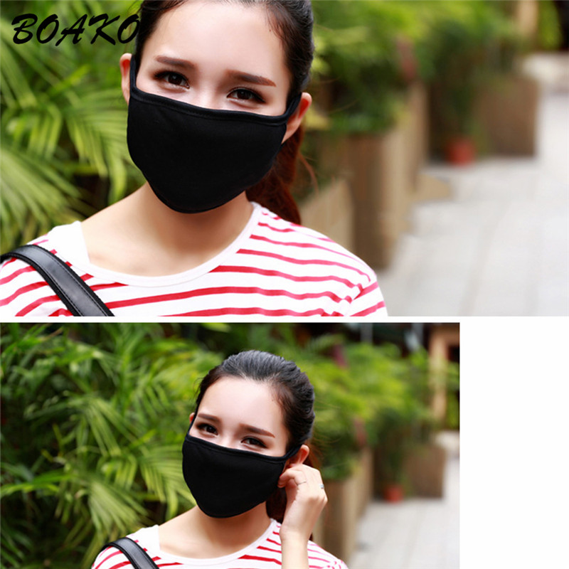 BOAKO Anti dust Cotton Mouth Face Mask Fashion Black Face Masks Kpop Lucky Women Men Muffle Warm Mouth Cover Mask Health Care in Men 39 s Masks from Apparel Accessories
