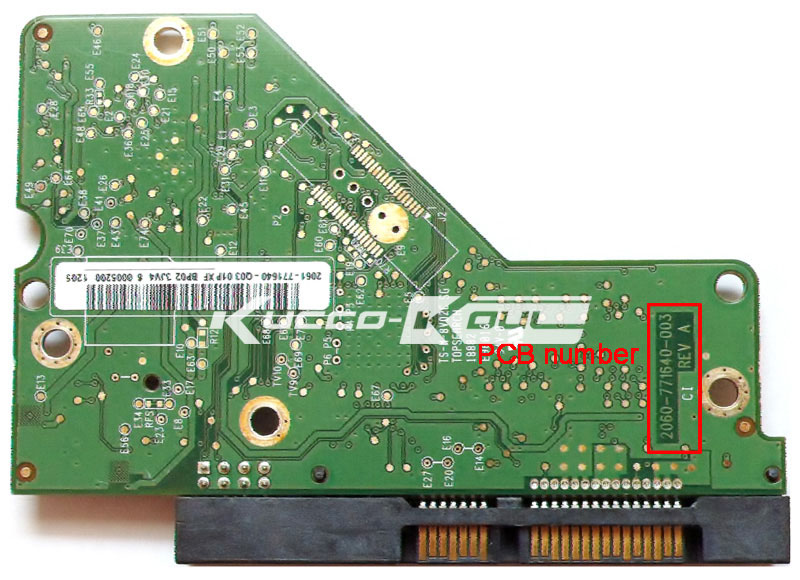 HDD PCB leiterplatten 2060-771640-003 REV A/P1 für WD 3,5 SATA festplatte reparatur daten recovery
