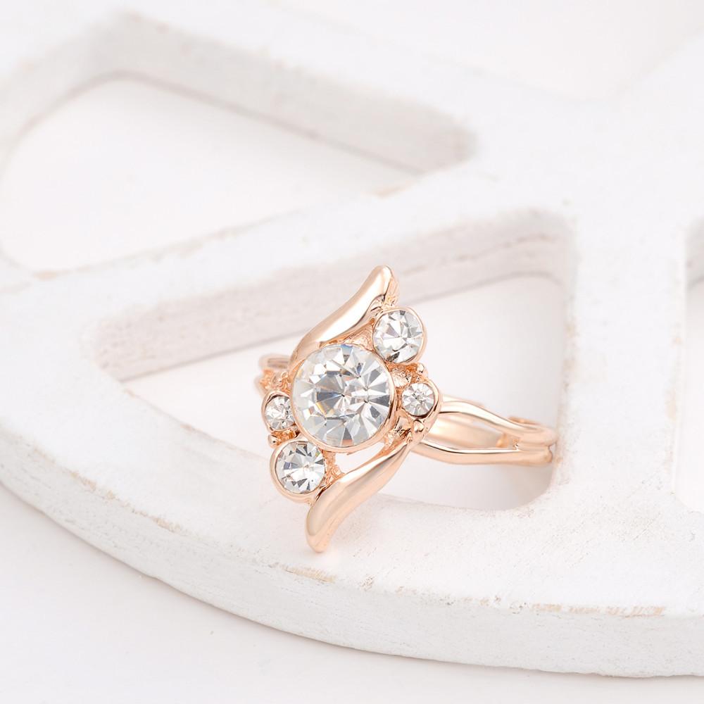 HTB1dbLRGVXXXXaCXXXXq6xXFXXXQ 3-Pieces Rhinestone Studded Rose Gold Women Jewelry Gift Set