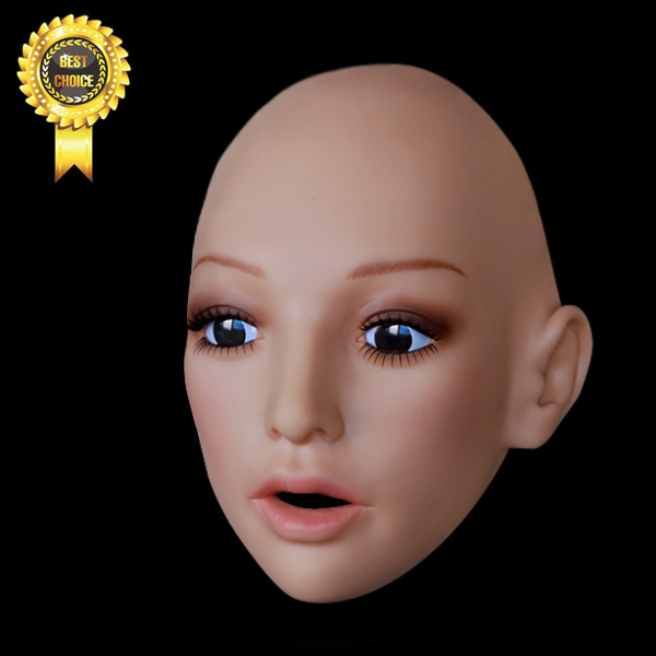 Sh 16 Human Mask Crossdress Silicone Female Mask Realistic Silicone Masks Party Mask Sissy Boy