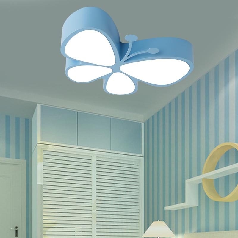 Children lamp LED ceiling lamps butterfly childrens LED eye care cartoon kindergarten child shop ceiling lights red ZA ET69