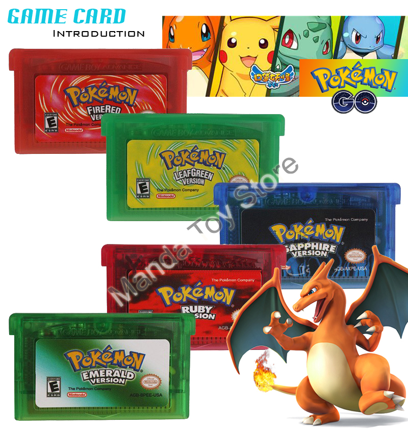 20pcs/lot GBA GAame Poke Collective Edition Video Game Cartridge Console Card For Game Boy Advance English Version