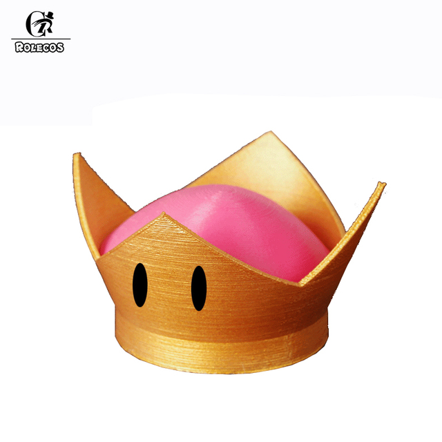 Rolecos Game Super Mary Brothers Cosplay Boosette Two Colors Cosplay Crown for Unisex Cosplay Crown