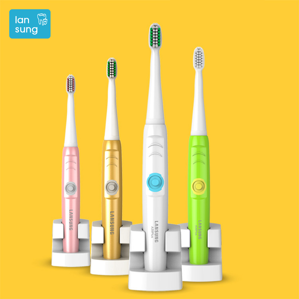 LANSUNG Oral Hygiene Electric Toothbrush Rechargeable Sonic toothbrush electric tooth brush brosse a dent electrique dental care yasi fl a12 electric sonic vibration toothbrush improves your dental and oral hygiene efficiently