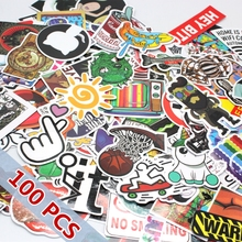 100Pcs Mixed Stickers Snowboard Doodle Laptop sticker Decal Toys Bike Car Motorcycle Phone Cartoon
