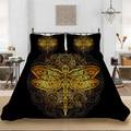 Набор постельного белья в стиле ретро с изображением животных стрекозы  постельное белье с пододеяльником  наволочкой  домашний текстиль