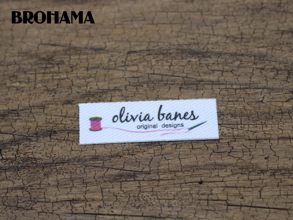 1dd2c5b47ce8b US $15.8 |128 Custom logo labels / brand labels, handmade fabric  tags,Custom Clothing Labels,Personalized Knitting Labels(TB215)-in Garment  Labels ...