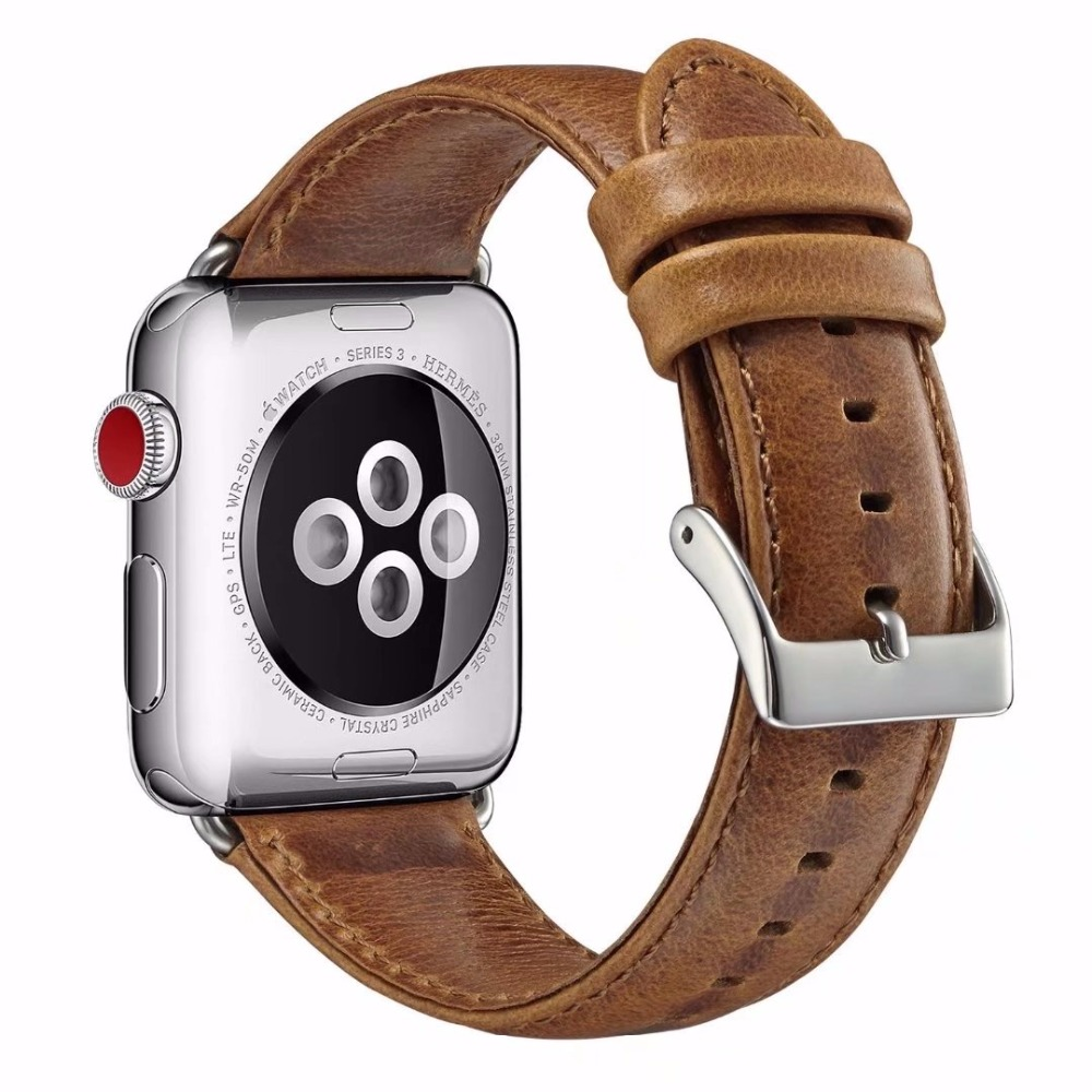 2018 New Crazy Horse Leather iWatch Watchband for apple watch Series 3 2 replacement wrist strap for iWatch 42mm 38mm bands vintage red brown crazy horse genuine leather watchband for apple watch 38mm 42mm women men replacement band strap for iwatch