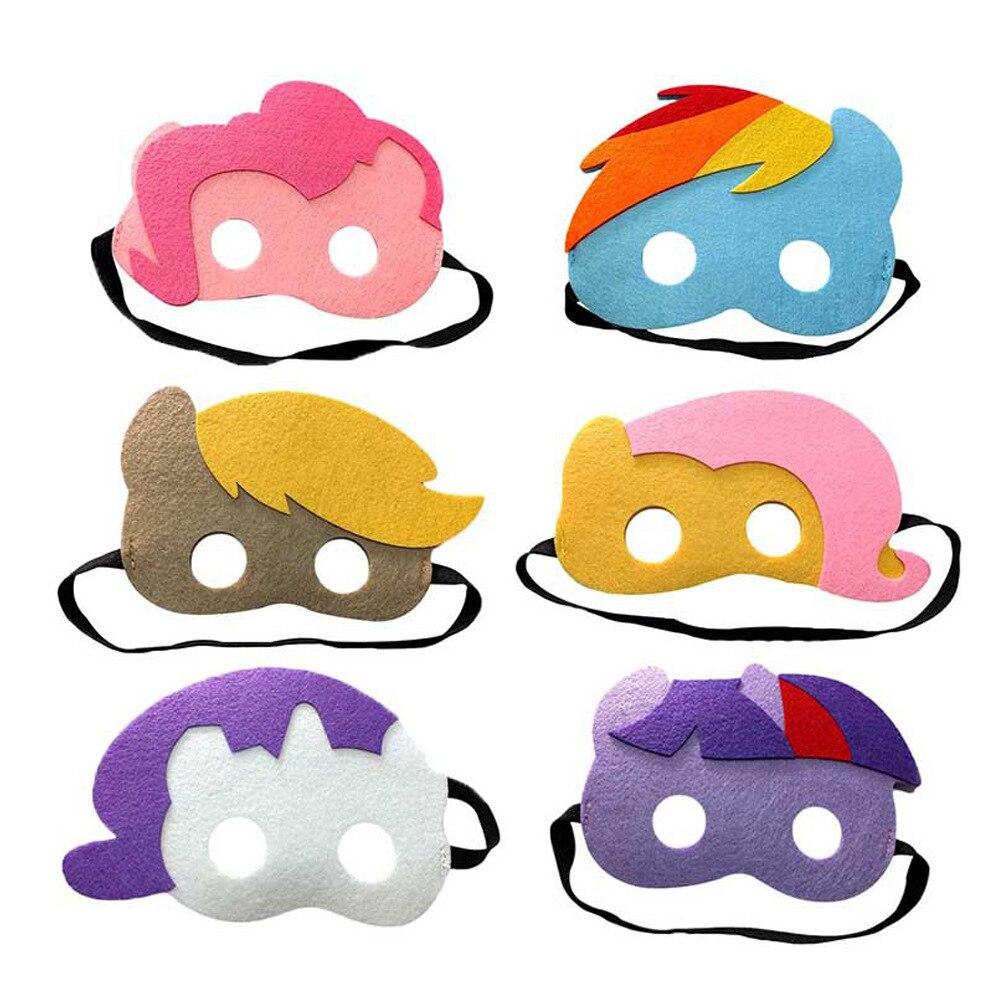 6 teile/los My Little Pony Maske Kinder Jungen Mädchen Geburtstag ...