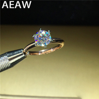 100% 18K 750Au Gold Moissanite Engagement Diamond Ring D color VVS With national certificate for Women