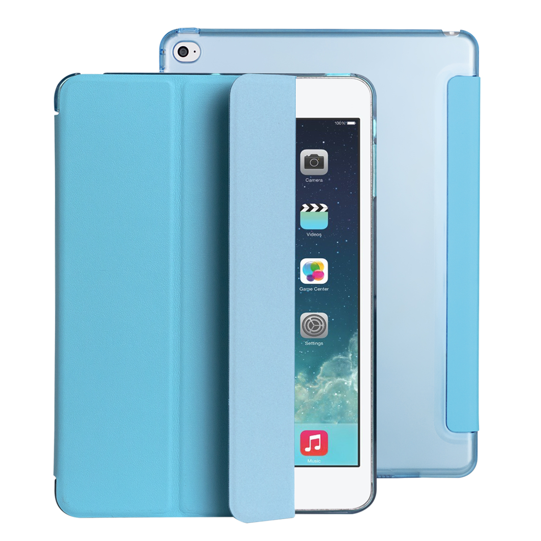 For iPad air 2 case Ultra Slim Magnetic Smart Flip Stand PU Leather Cover PC Hard Back Cover for iPad Air1/Air 2 Coque ctrinews flip case for ipad air 2 smart stand pu leather case for ipad air 2 tablet protective case wake up sleep cover coque