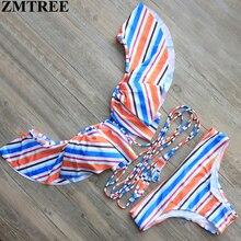ZMTREE Bikini 2017 Bikini Vendaje Push Up Bra Sets Hombro Acolchado traje de Baño Traje de Baño Brasileño Biquini Maillot De Bain
