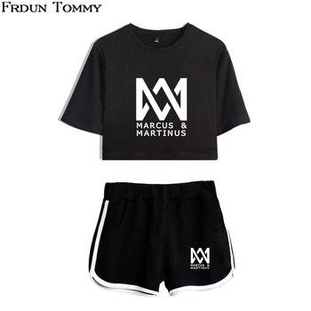 Frdun Tommy Marcus & Martinus Giải Trí Phù Hợp Với Mềm Vòng Cổ Áo T-Shirt O-Cổ và Quần Ngắn Kpop 2018 Mới Phong Cách Giản Dị quần áo