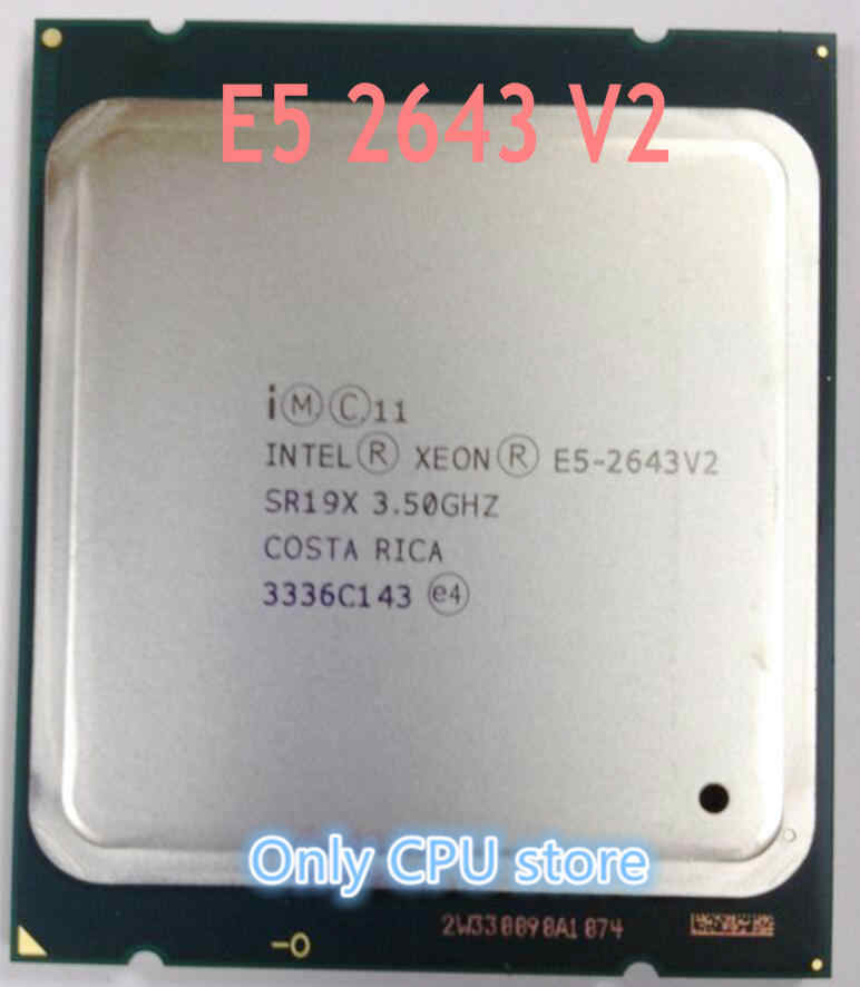 Intel Xeon CPU processor E5-2643V2 3.50GHz 6-Cores 25M LGA2011 E5 2643V2 free shipping speedy ship out E5-2643 V2 E5 2643 V2