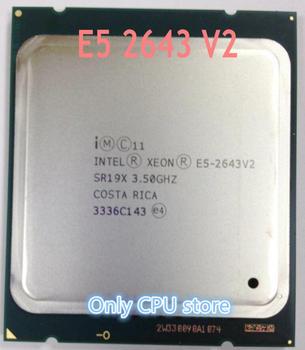 Процессор Intel ЦП Xeon, процессор E5-2643V2 3,50 ГГц 6 ядер 25 м LGA2011 E5 2643V2, бесплатная доставка, быстрая доставка, E5-2643 V2 E5 2643 V2