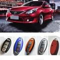 Carbon Fiber Car Key Sticker Cover Case For Nissan Tiida X-trail Teana/Altima Car Key Protect Sticker Car Accessories Colorful
