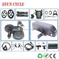 BAFANG BBS02B 36V 500W central motor kits with 36V 20Ah USB hailong down tube battery pack for mountain bike fat tire bike
