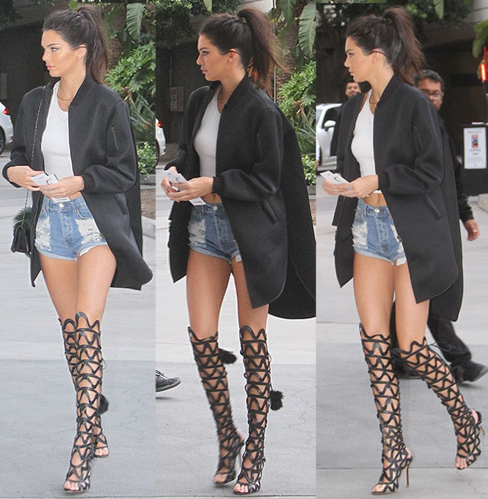 Aliexpress.com : Buy Black Cutouts Over The Knee Gladiator Sandals ...