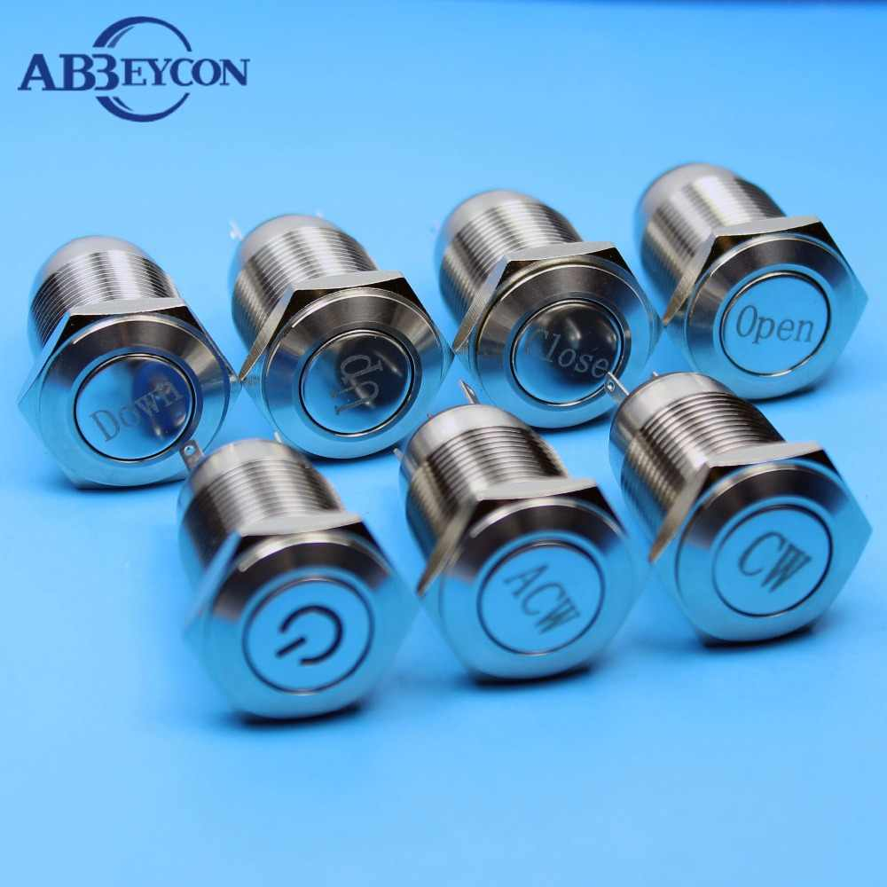 Detail Feedback Questions About Abbeycon Normally Open Momentary 12v Details Latching Push Button Switch Rectangular Dc 16mm Waterproof Up Down Logo Flat Head Metal Shell Ip65 Solder Terminal Machine