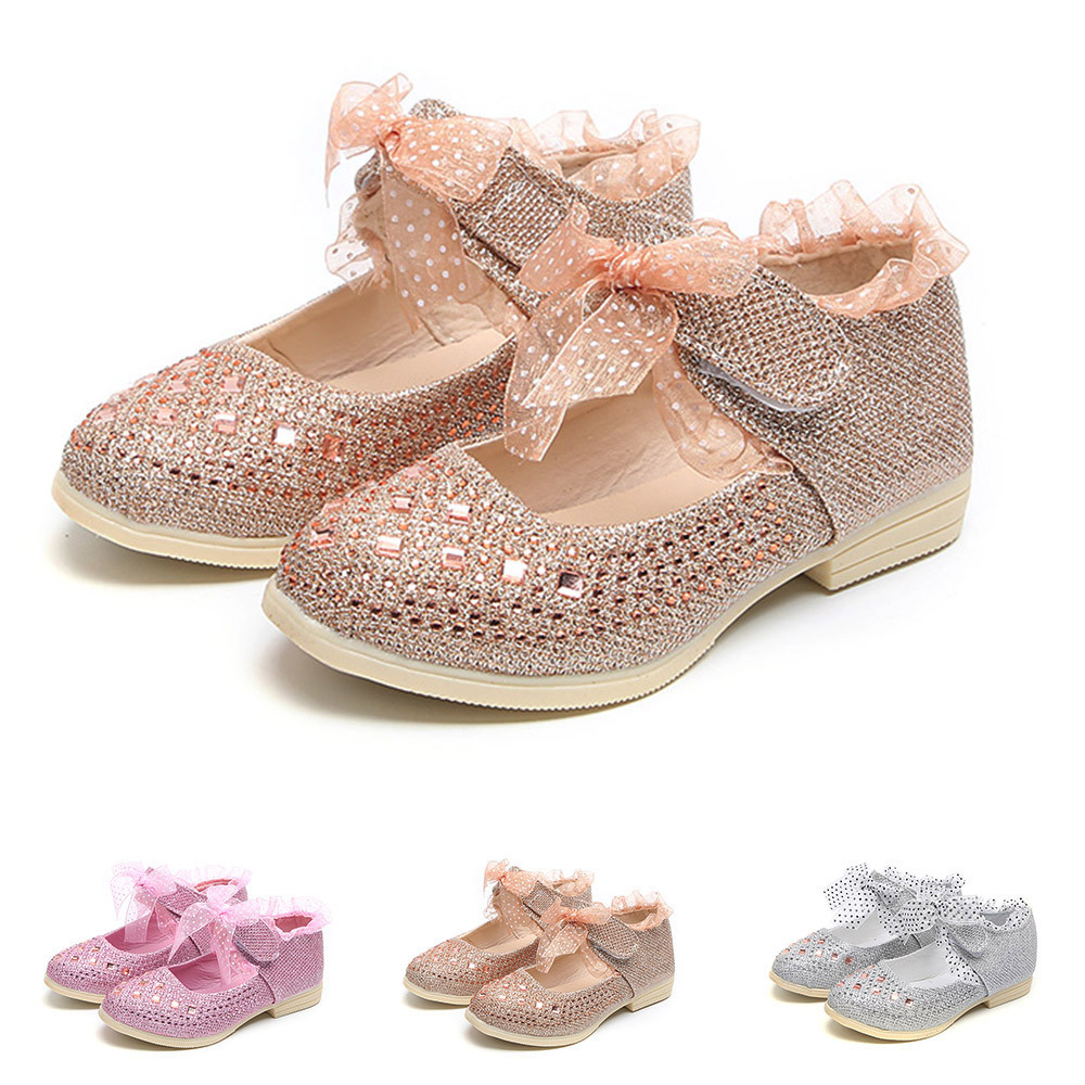 New Cute Toddler Girls Dress Shoes Kids Students Princess Shoes Size 8-1