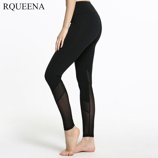 RQUEENA 2017 Spring New Fashion Ninth Pants Pure Black Sexy Woman Yarn Leggings