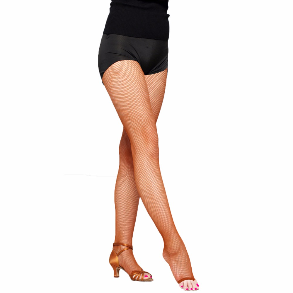 Women Latin Dance Fishnet Tights Sexy Pantyhose Open Toe Collants Mesh Strumpfhose Dancer Professional Hosiery