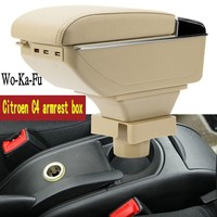 For C4 armrest box central Store content box armrest box products interior decoration Storage Center Console