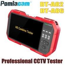 Profesyonel CCTV Tester Monitör DT-A86 A82 7 Inç H.265 4 K IP TVI CVI AHD CVBS kamera test cihazı TDR Multimetre Lazer güç Ölçer