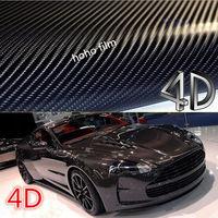 152cmx100cm 4D Carbon Fiber Vinyl Car Wrap Sheet Roll Film car Sticker Decal Black for the Motorcycle Car Styling Accessories