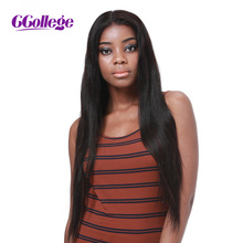 CCollege Hair Glueless Lace Front Human Hair Wigs Natural Color Brazilian Straight Remy Hair Wigs For Black Women Shipping Free