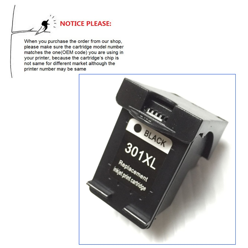 YOTAT Remanufactured ink cartridge CH563EE for HP 301XL <font><b>HP301XL</b></font> HP301 eskJet 1050 2050 2050s 2510 3510 D1010 1510 2540 4500 image