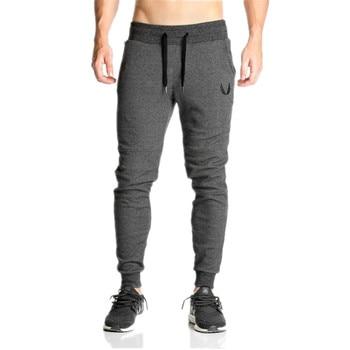 2019 Men Gyms Joggers Pants Casual Elastic Cotton Mens Fitness Workout Pants Skinny Sweatpants Trousers Jogger Pants