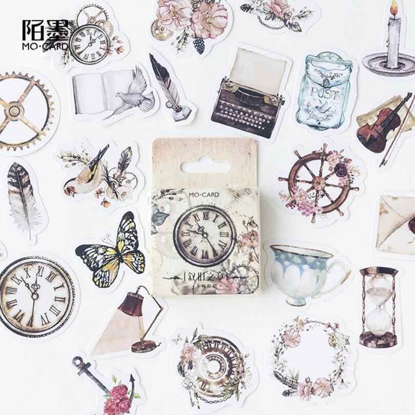 46 pz/pacco vintage Vita Rosa e uccelli autoadesivo Della Decorazione DIY Planner Scrapbook Telefono Indice Album adesivi di Tenuta
