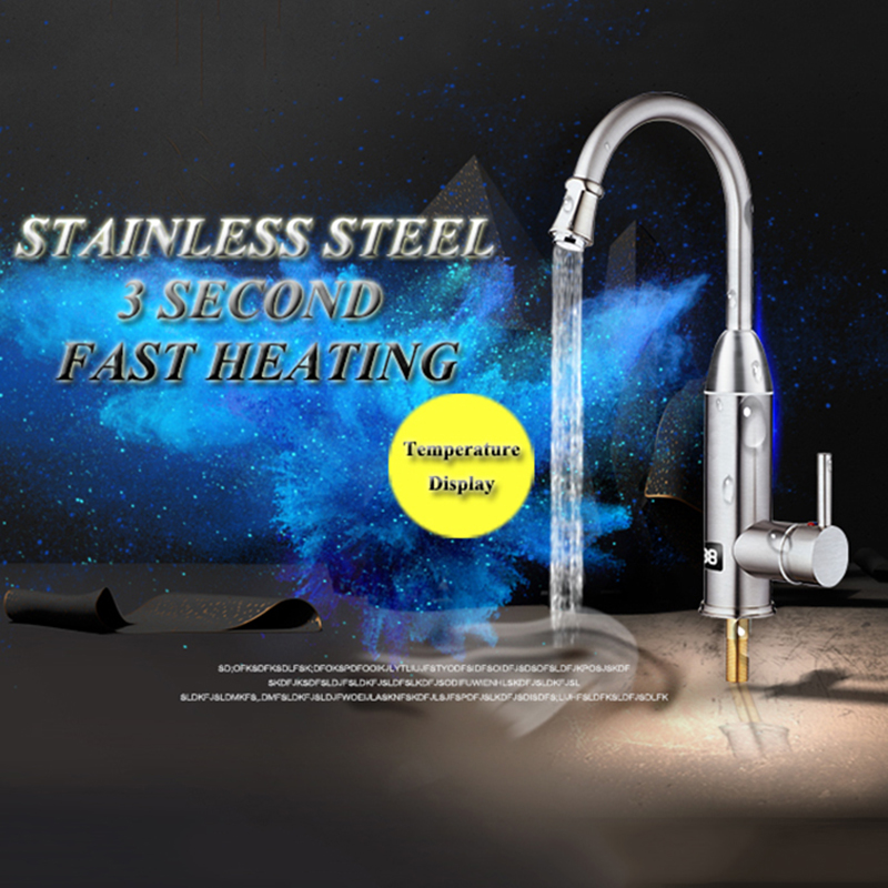 Kitchen Cocina Water Heating Faucet Instant Hot Water Tap Tankless Water Heater Taps Fast Heating Verwarming Musluk 220V-240V