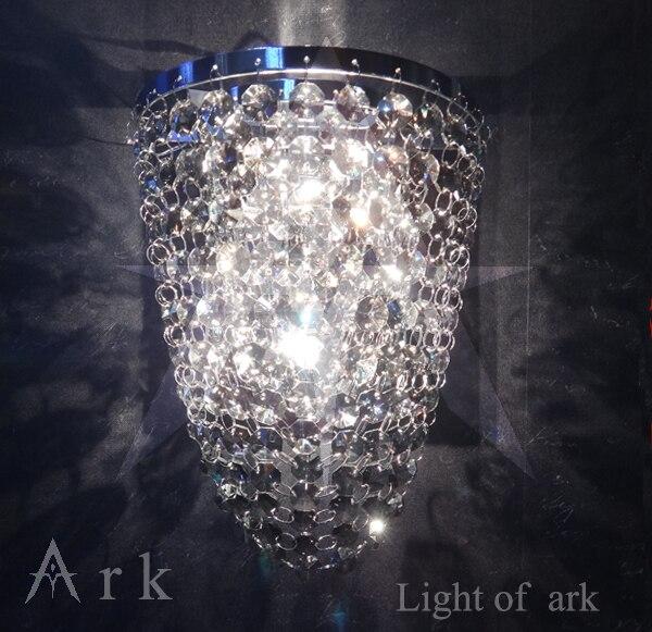 ark light Free shipping K9 crystal wall lamp crystal Sconces-01 ark light new copy design mini wall lamp sconces lamp minimalist hall porch walkway lobby light free shipping
