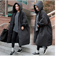 2016 South Korea's New Winter Fashion Thickening Warm Cotton Parkas Large Version of The Warm Couple Lovers BF Wind Large Parkas