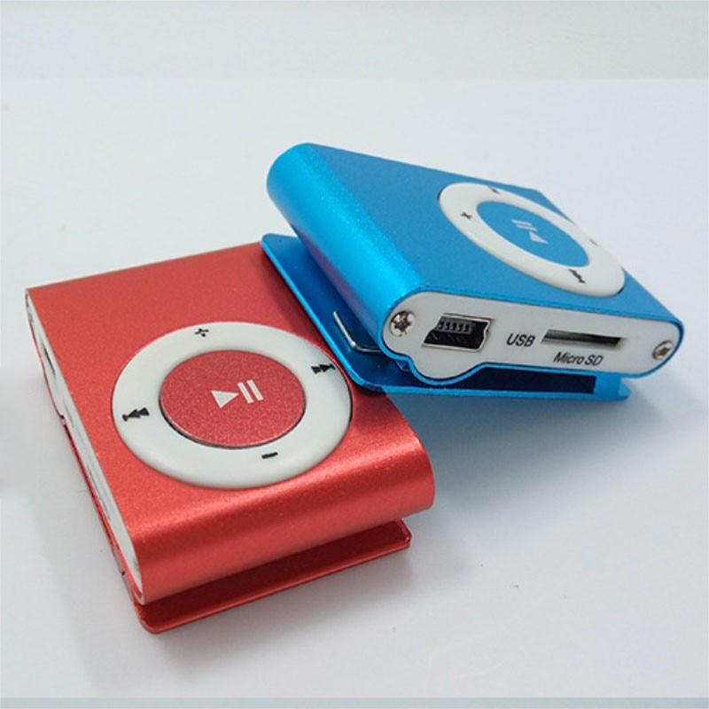 Mini lecteur de musique Mp3 lecteur Mp3 USB lecteur de Sport MP3 Micro fente pour carte TF Port USB avec écouteurs 2 GB carte TF