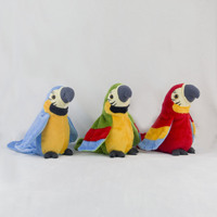 Robot Parrot Electronic Parrot Plush Pet Animal Toys Talk Clap Wings Toys For Children Birthday Gifts Colour Random