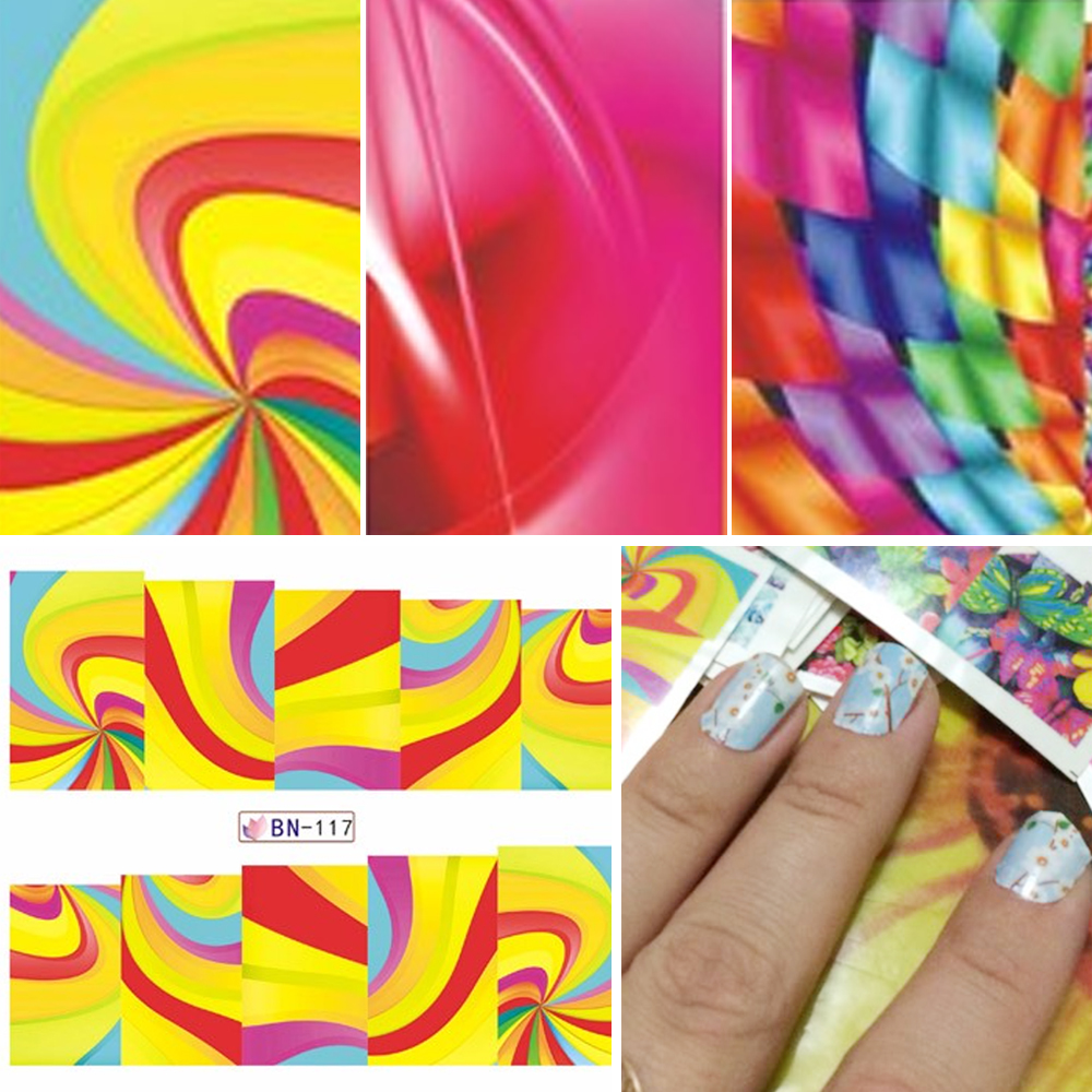 48 Sheets Leopard Animal Flower Designs Oil Painting Nail Stickers Water Transfer Nail Art Decals Beauty Full Wraps SABN073-120 100pcs sexy leopard lips nail art stickers decals adhesive full nail wraps diy nail beauty decoration wholesale