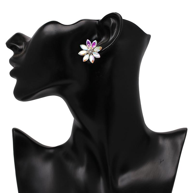 Нови блестящи цветни обеци от горни - Модни бижута - Снимка 6