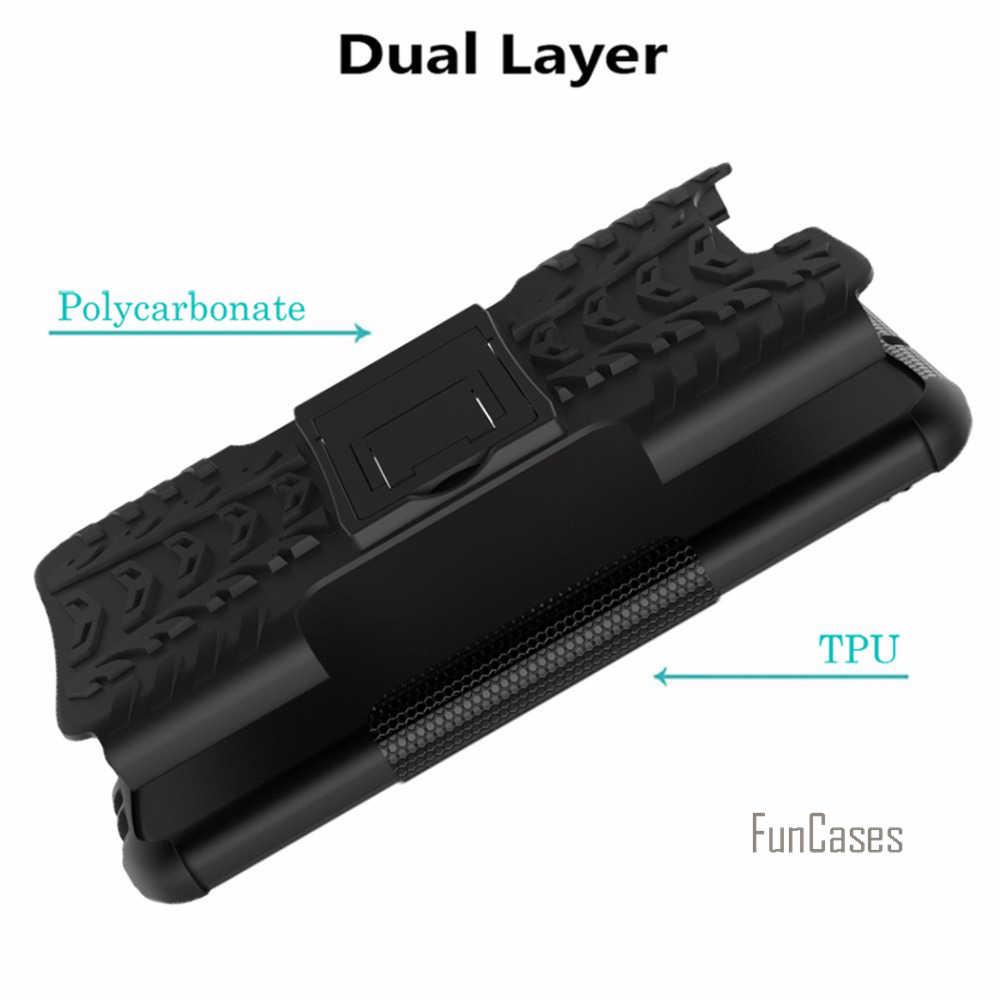 Per Huawei P10 Caso Ibrido Cavalletto Dazzle di Gomma Robusta Armatura Dura del PC + TPU Con Il Basamento Funzione Caso Della Copertura