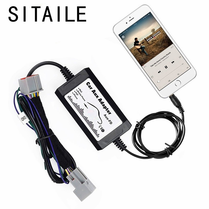 SITAILE AUX car audio Changer Adapter for Ford F-150 F-250 F-350 F-550 Focus Freestyle Fusion Mustang LINCOLN MKX Mercury Milan