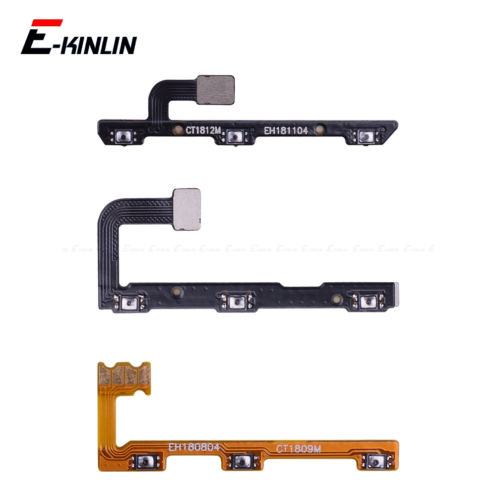 Volume Button Power Switch On Off Key Ribbon Flex Cable For HuaWei Mate 20 X 10 9 Pro Lite P Smart Plus 2019 Replacement Parts