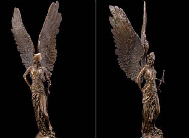 Art Deco Sculpture Angel Warrior Soldier Goddess Of Victory Bronze
