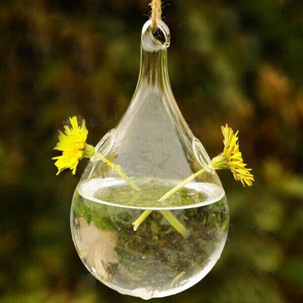 24 стиля стеклянная подвесная Ваза Бутылка Террариум гидропонный горшок Декор цветочные растения контейнер орнамент микро пейзаж DIY домашний декор - Цвет: 8x16.5cm