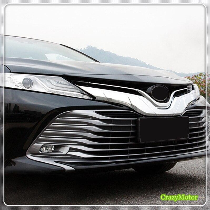 Pour la Version régulière! Pour TOYOTA 2018 CAMRY Auto ABS calandre extérieure autour du couvercle de protection 1 * accessoires