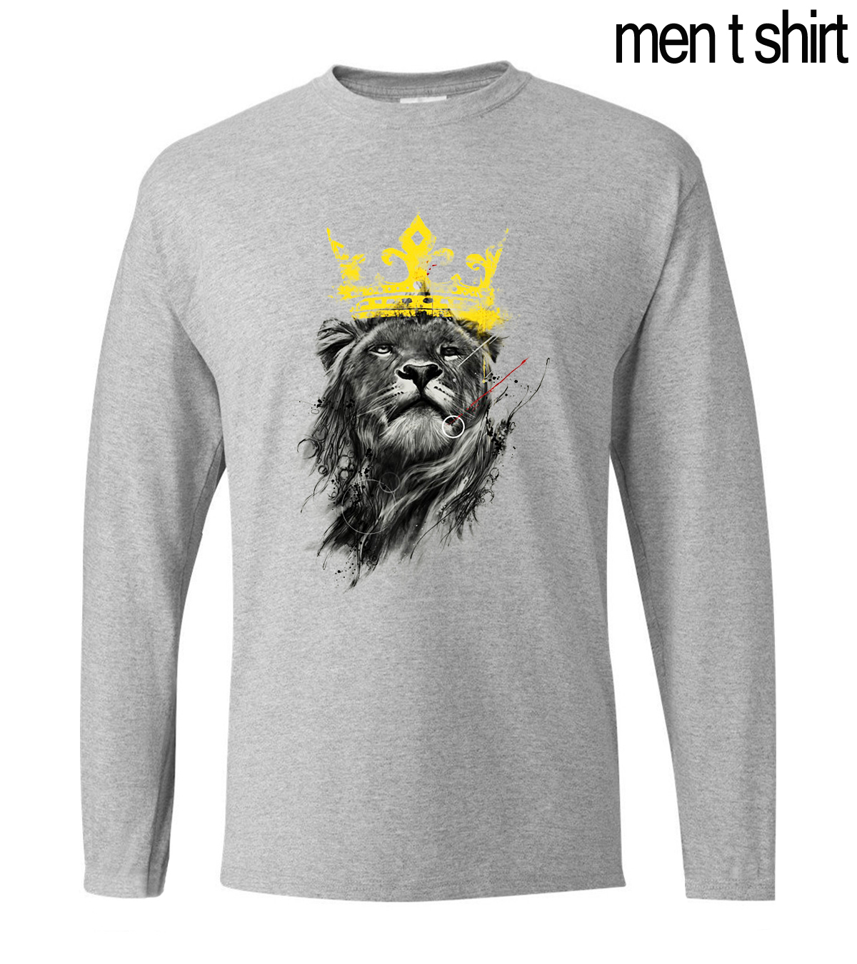 3D Print King Of Lion Men T Shirt 2019 Summer Long Sleeve Anime T-Shirt 100% Cotton High Quality Men's Tshirt Slim Fit Cool Tops